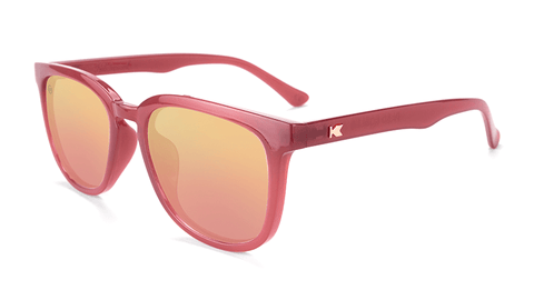 f6bc71afbfcfd Sunglasses with Glossy Sangria Frames and Polarized Rose Gold Lenses