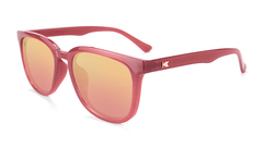 Sunglasses with Glossy Sangria Frames and Polarized Rose Gold Lenses, Flyover