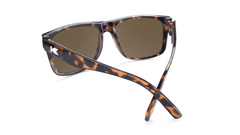Sunglasses with Glossy Tortoise Shell Frame and Polarized Amber Lenses, Back