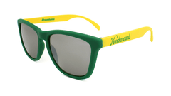 Knockaround Sunglasses with Green and Yellow / Smoke Classics Flyover