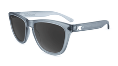 Premiums Sunglasses with Frosted Grey Frames and Black Smoke Lenses, Flyover