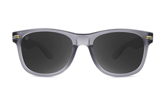 Fort Knocks Sunglasses with Frosted Grey Frames and Black Smoke Lenses, Front