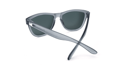 Premiums Sunglasses with Frosted Grey Frames and Blue Moonshine Mirrored Lenses, Back