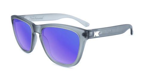b656251915 Premiums Sunglasses with Frosted Grey Frames and Blue Moonshine Mirrored  Lenses