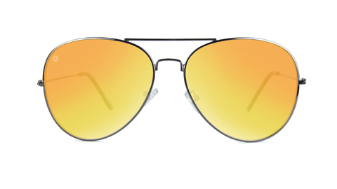 Sunglasses with Gunmetal Frame and Polarized Yellow Sunset Lenses, Back