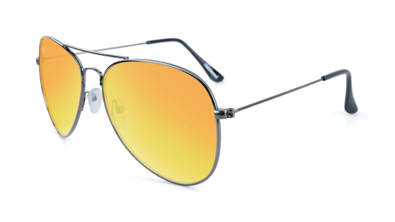 1a1df04a5d Knockaround Mile Highs Sunglasses with a Gunmetal Frame   Polarized Yellow  Sunset Lenses