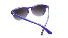 Sunglasses with Indigo Sky Frames and Polarized Smoke Gradient Lenses, Back