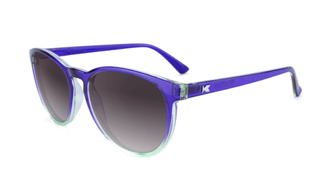 Sunglasses with Indigo Sky Frames and Polarized Smoke Gradient Lenses, Flyover