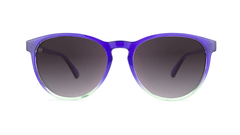Sunglasses with Indigo Sky Frames and Polarized Smoke Gradient Lenses, Front