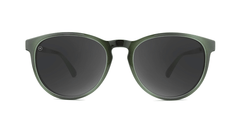 Sunglasses with Jade Lagoon Frames and Polarized Smoke Lenses, Front