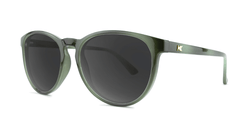 Sunglasses with Jade Lagoon Frames and Polarized Smoke Lenses, Threequarter