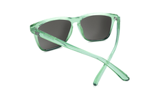 Sunglasses with Glossy Juniper Fade Frames and Polarized Green Moonshine Lenses, Back