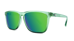 Sunglasses with Glossy Juniper Fade Frames and Polarized Green Moonshine Lenses,Threequarter