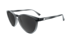 Sunglasses with Black and Grey Frames and Polarized Black Smoke Lenses, Flyover