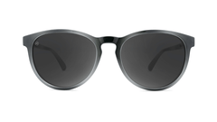 Sunglasses with Black and Grey Frames and Polarized Black Smoke Lenses, Front