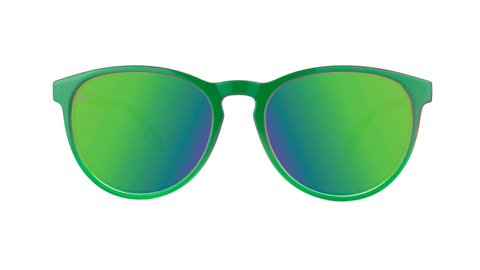 Sunglasses with Mango Geode Frames and Polarized Green Moonshine Lenses, Back