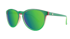 Sunglasses with Mango Geode Frames and Polarized Green Moonshine Lenses, Threequarter