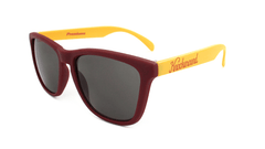 Knockaround Maroon and Gold / Smoke Classic Premiums Flyover