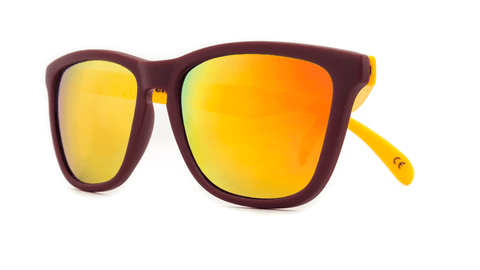 Knockaround Sunglasses Maroon and Gold / Sunset Classic Premiums Front