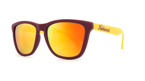 Knockaround Sunglasses Maroon and Gold / Sunset Classic Premiums Threequarter
