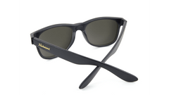 Fort Knocks Sunglasses with Matte Black Frames and Black Smoke Lenses, Back