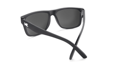 Sunglasses with Matte Black Frames and Polarized Black Smoke Lenses, Back