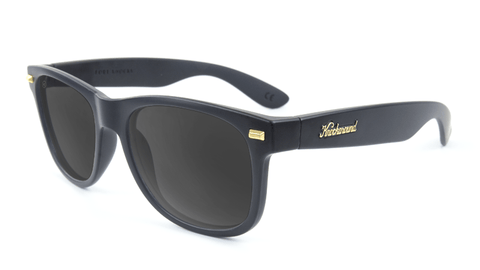 Fort Knocks Sunglasses with Matte Black Frames and Black Smoke Lenses, Flyover