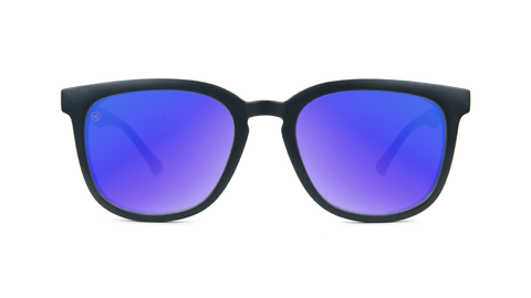 Sunglasses with Matte Black Frame and Polarized Moonshine Lenses, Back