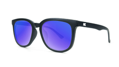 Sunglasses with Matte Black Frame and Polarized Moonshine Lenses, Threequarter
