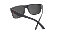 Sunglasses with Matte Black Frames and Polarized Red Sunset Lenses, Back