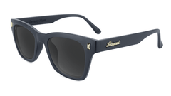 Sunglasses with Matte Black Frames and Polarized Smoke Lenses, Flyover