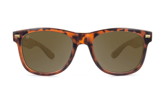 Fort Knocks Sunglasses with Matte Tortoise Shell Frames and Brown Amber Lenses, Front