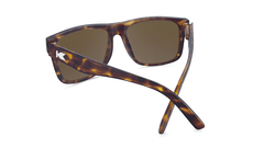 Sunglasses with Matte Tortoise Shell Frame and Polarized Amber Lenses, Back