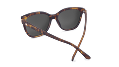Sunglasses with Matte Tortoise Shell Frames and Polarized Rose Gold Lenses, Back