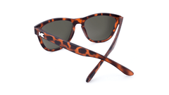 Premiums Sunglasses with Matte Tortoise Shell Frames and Brown Amber Lenses, Back