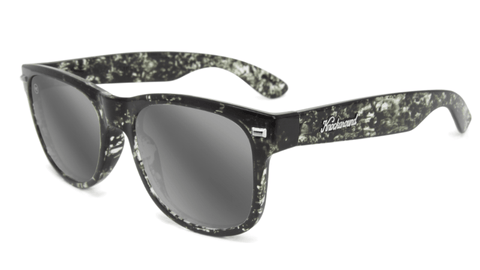 Sunglasses with Midnight Ink Frames and Polarized Silver Smoke Lenses, Flyover