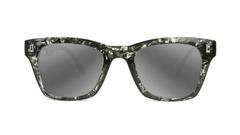 Sunglasses with Midnight Ink Frames and Polarized Silver Smoke Lenses, Front