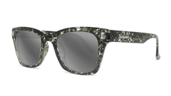 Sunglasses with Midnight Ink Frames and Polarized Silver Smoke Lenses, Threequarter