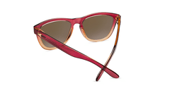 Sunglasses with Raspberry and Creme Beige Frames with Polarized Amber Lenses, Back
