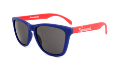 Knockaround Sunglasses Navy Blue Red Smoke Classics Flyover