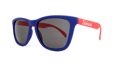 Knockaround Sunglasses Navy Blue Red Smoke Classics Threequarter
