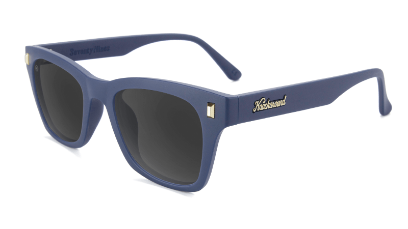9192d40489 Sunglasses with Navy Blue Frames and Polarized Smoke Lenses