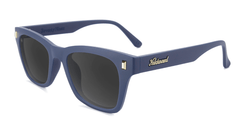 Sunglasses with Navy Blue Frames and Polarized Smoke Lenses, Flyover