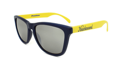 Knockaround Sunglasses Navy Blue and Yellow / Smoke Classics Flyover