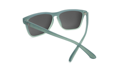 Sunglasses with Blue-Grey Frames and Polarized Smoke Lenses, Back
