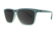 Sunglasses with Blue-Grey Frames and Polarized Smoke Lenses, Threequater