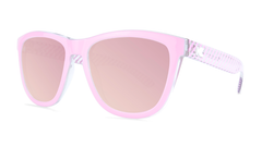 Sunglasses with Park Ave Frames and Polarized Rose Lenses, Threequarter