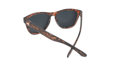 Sunglasses with Pink Ink Frames and Polarized Rose Gold Lenses, Back
