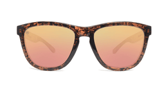 Sunglasses with Pink Ink Frames and Polarized Rose Gold Lenses, Front