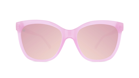 Sunglasses with Pink Lemonade Frames and Polarized Pink Lenses, Back
